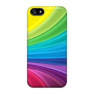 Yks15636vSGu Cases Covers, Fashionable Iphone 5/5s Cases - Glossy Rainbow