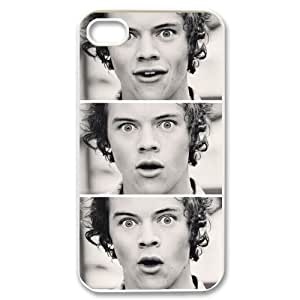 D-PAFD Customized Print Harry Styles Pattern Back Case for iPhone 4/4S