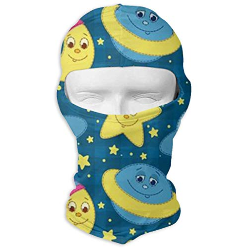 Balaclava Cute Moon Star Full Face Masks Ski Sports Cap Motorcycle Hood For Cycling Sports Snowboard
