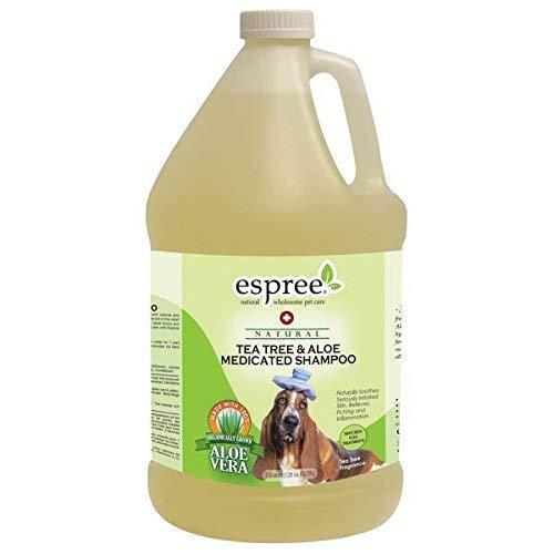 Natural Dog Shampoo Tea Tree and Aloe Medicated Pro Pet Grooming Bathing Gallon