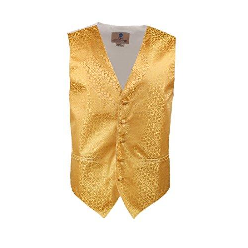VS1007-XL Herren Gold Punkte Weste Krawatte Manschettenkn?pfe Fliege Taschentuch ??Br?utigam Geschenke Von Y&G