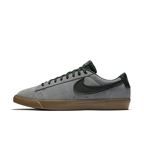 Nike BLAZER LOW GT mens skateboarding-shoes 704939-018_5.5 - GUNSMOKE/BLACK SPRUCE-GUM LIGHT BROWN