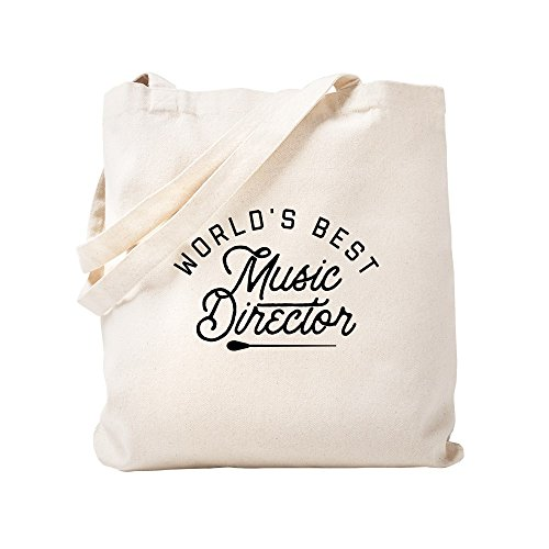 CafePress World's Best Music Director Natural Canvas Tote Bag, Cloth Shopping - Director Worlds Music Best