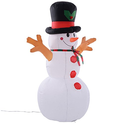 Find Discount Tangkula 5Ft Airblown Inflatable Christmas Snowman Gemmy Decor Lighted Lawn Yard Outdo...
