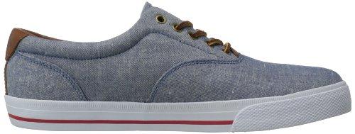 Polo Ralph Lauren Mens Vaughn Fashion Sneaker Blu / Rosso Chambray