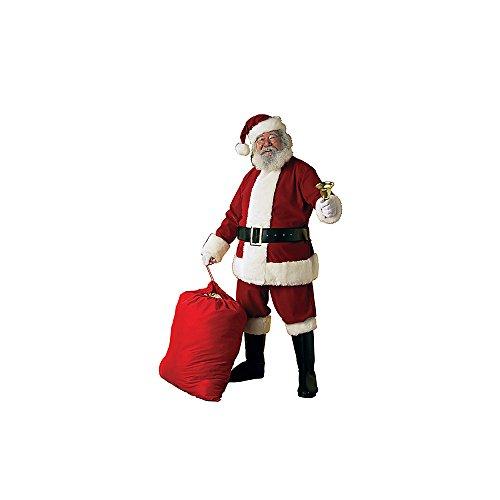 Rubie's Deluxe Velvet Santa Suit XXL Costume for Adult with Wig and - Velvet Deluxe Santa