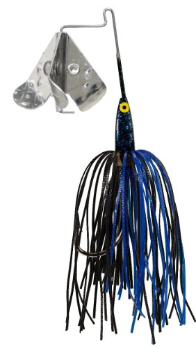 Strike King Tri-Wing Mini Buzz King Bait (Black/Blue, 0.125-Ounce)
