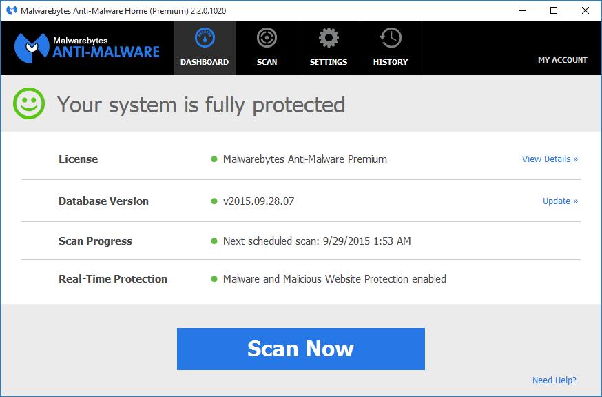 Resultado de imagen para malwarebytes 3.5.1