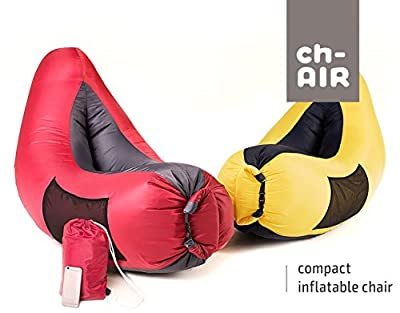 Inflatable Hammock Air Bag Lounge Chair! Sofa for Indoor or Outdoor Inflates In Seconds! Carry Bag Included! Waterproof Lounger Air Mattress for Camping Picnics Beach & Music Festivals!
