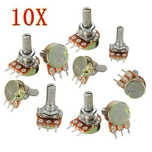 10PCS WH148 Pot B10K 10K Linear Potentiometer Shaft 15mm 3 Pin