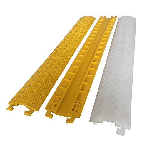 Espero Indoor Drops Over and Covers Wires in High Traffic Areas - Stage, Concert, Sidewalk For indoor & Outdoor Use ,L3.28'xW5.1''xH0.79'' Yellow 3pack by Espero