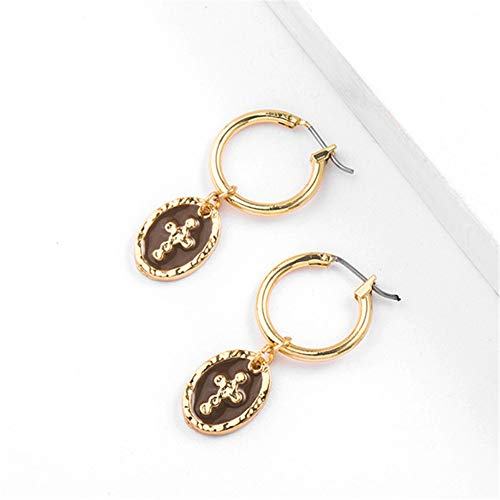 Tiny Hoop Earrings for Women - Artilady Small Hoop Earrings Set, Idea Birthday Gift for Women, Party, Sister and Daily use (Cross)
