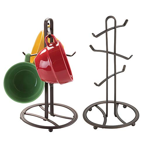 mDesign Decorative Kitchen Countertop Mug Rack Holder Stand