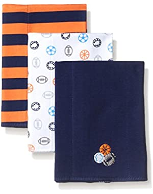 Gerber Baby Boys' 3 Pack Knit Burp Cloth