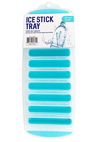 Good Living Dishwasher-Safe Compact Ice Stick to Keep Drinks Chilled, Teal Blue, 1-Tray ()
