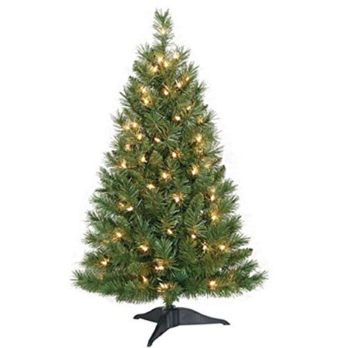 Christmas Tree Artificial 3 Feet Pre- Lit Holiday Tabletop Desk Counter-top Home Office Reception Desk School Dorm Kids Room - Artificial Tabletop Christmas Tree