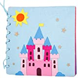 SODIAL Handmade Baby Quiet Book 20X20Cm Children DIY Toys Early Education Education Easy to Sew Felt DIY Material Package Castle Secret
