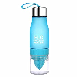 Ochoice Lemon Bottle Outdoor Sport Juice Water Bottles ( Blue)