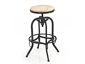 best choice products vintage bar stool industrial metal design wood top adjustable height swivel with vintage wooden bar stools  sc 1 st  thisnext.us & Vintage Wooden Bar Stools. Simple Wood Bar Stools With Leather ... islam-shia.org