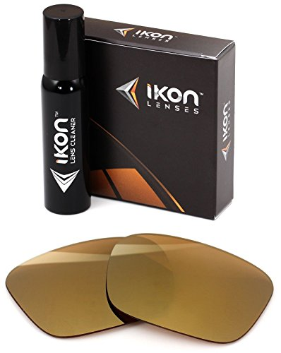 Polarized Ikon Iridium Replacement Lenses For Spy Helm Sunglasses - 24K Gold Mirror (Gold Spy Lens)