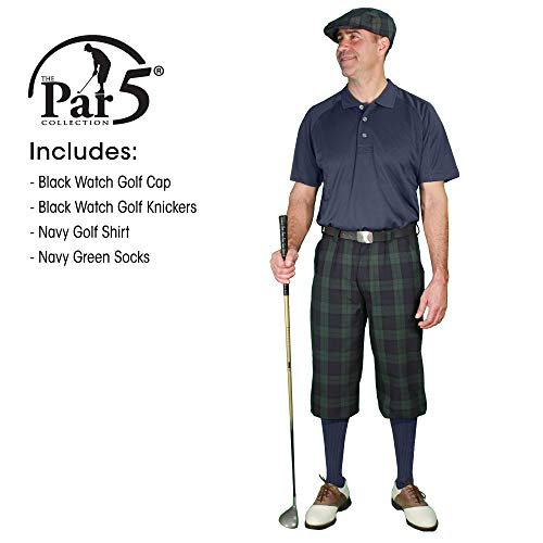 Golf Knickers Black Watch Golf Outfits - Mens - Navy - Size: 56 / Large Shirt