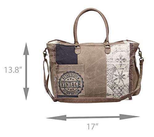 Amazon.com: Myra Retro de material reciclado bolsa de lona ...