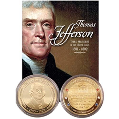 (United States President Thomas Jefferson Collectible Coin Medallion)
