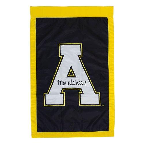 28'x44' Applique Banner Flag - NCAA Appalachian State Mountaineers Black 28'' x 44'' Team Logo Applique Flag