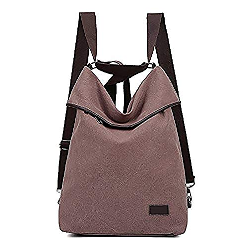 DLMBB Backpack Multifunction Shoulder Women Canvas Purse Crossbody Daypack Casual Bag Khaki Travel rnXqrwxR