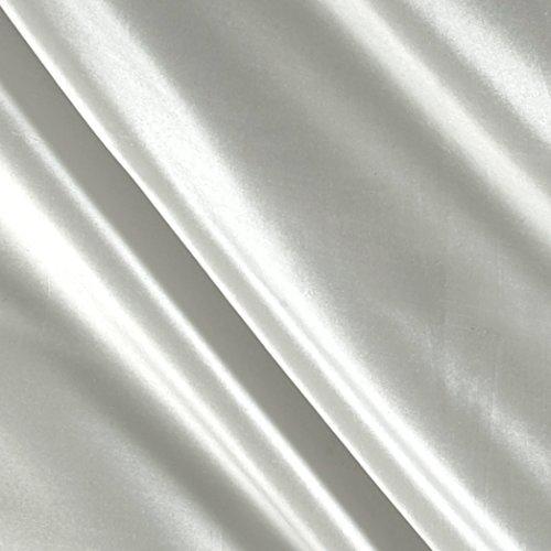 Angus International 100% Silk Shantung Fabric by The Yard, White
