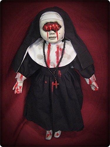 Eye Mouth Vampire Nun w/ Blood Creepy Horror Doll by Bastet2329 Christie Creepy Dolls -