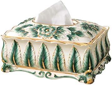 GYCOZ Tissue-Box Papierserviette für Haushaltstücher Europäische Keramikschalen Dekorative Aufbewahrungsbox für Ornamente Tissue Box Cover Gesicht
