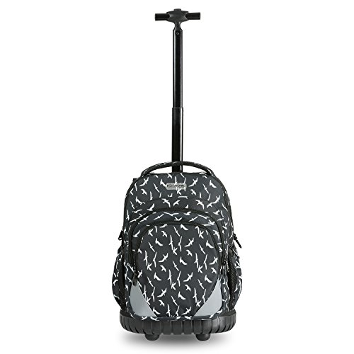 ff5e0a6d91b1 HollyHOME 18 inch Students Multifunction Waterproof Wheeled Rolling Backpack  Large Storage Laptop