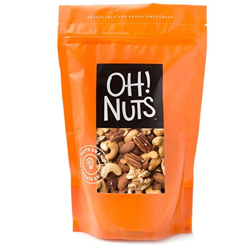 (Fresh Mixed Nuts Roasted Unsalted Cashews, Walnuts, Brazil Nuts, Hazelnuts, Almonds, (2 Pound Bag) - Oh! Nuts)