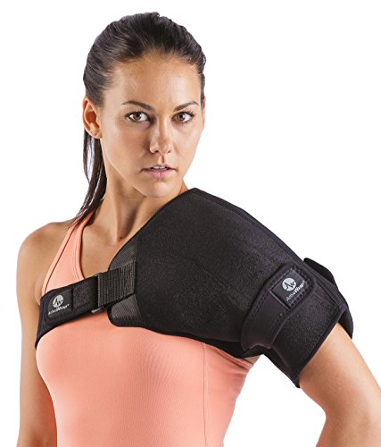 Shoulder Hot / Cold Therapy Wrap - Perfect for Shoulder Inflammation and Rotator Cuff Injuries - Hot / Cold Gel Packs Included