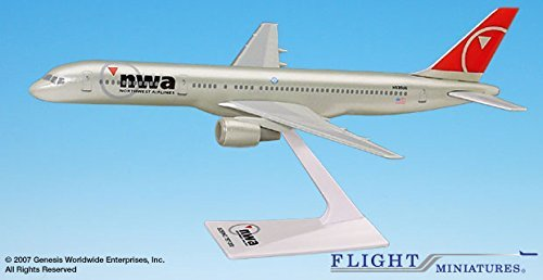 Boeing 757-200 Northwest Airlines 1/200 Scale Model by Flight Miniatures (Certified Refurbished)