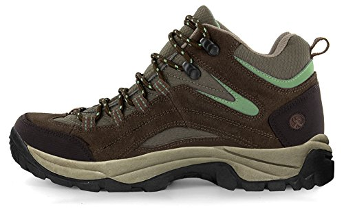 Northside Women's Pioneer Hiking Boot, Dk Brown/Sage, 6 B(M) US