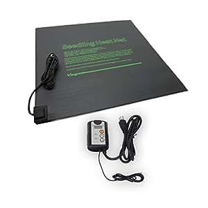 viagrow bandeja alfombrilla de calor con termostato digital calor Mat., poluretano, 2 Tray Mat Setup