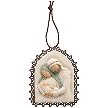 Willow Tree Holy Family Metal-edged Ornament by Susan Lordi 26241