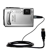 USB Data Hot Sync Straight Cable for the Olympus TG-610 with Charge Function – Two functions in one unique Gomadic TipExchange enabled cable