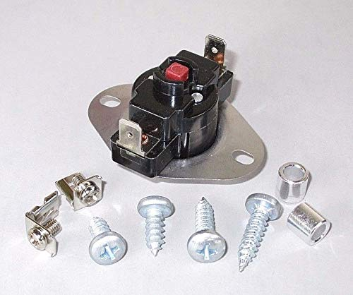 Multi-Mount Manual Reset High Temp Limit Safety Switch L250F for Furnace, Heater ()