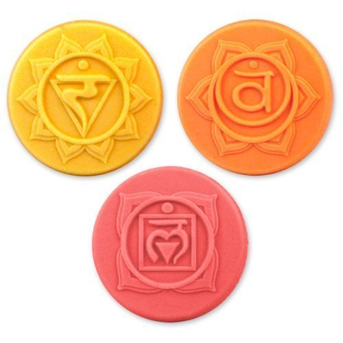- Milky Way Chakras 3 Soap Molds - Clear PVC - Not Silicone