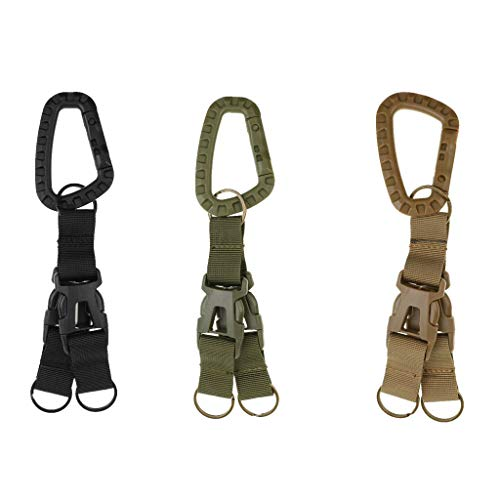 NATFUR MOLLE Nylon Webbing Keychain Double Quick Release Buckle Key Ring Hunting Elegant for Men Holder Perfect for Girls Novelty Fine Goodly | Color - Khaki