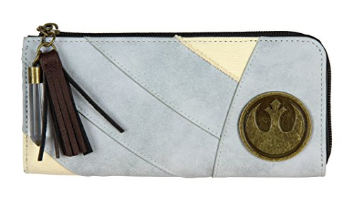 - Star Wars Rey L-Zip Wallet With Badges and Charms