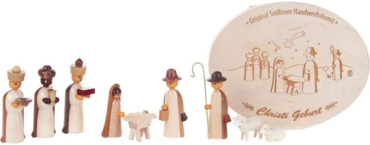 Amazon Com Alexander Taron 225 263ns Dregeno Chip Box Natural Nativity With 3 Wise Men Holy Family Multi Color Home Kitchen