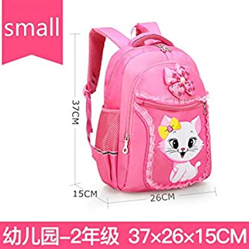 Image Unavailable. Image not available for. Color  Cute Children School  Bags Girls Princess Schoolbags Primary Cartoon cat Backpack Kids ... 4638bf57496bf