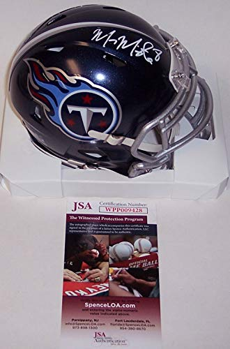 Marcus Mariota Autographed Hand Signed Tennessee Titans Speed Mini Football Helmet - (Signed Titans Mini Helmet)
