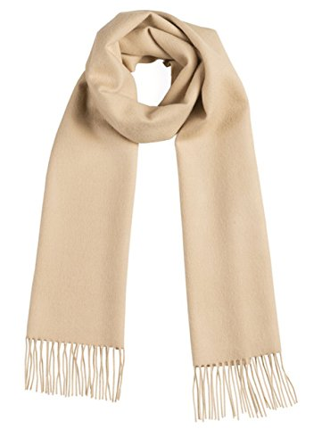 Luxurious 100% Premium Baby Alpaca Scarf - Ultimate Softness - for Men and Women (Wheat)
