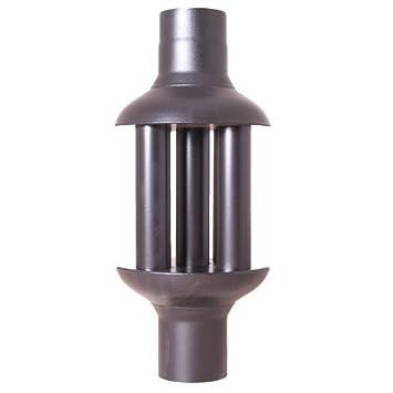 Acerto Abgaswärmetauscher 120x650mm   Schwarz ✓ Energie Sparen ✓ Leichte  Reinigung ✓ Einfacher Einbau   Warmlufttauscher