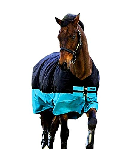 AMIGO, Horseware Mio Lite Turnout Sheet, Black/Turquois, 81
